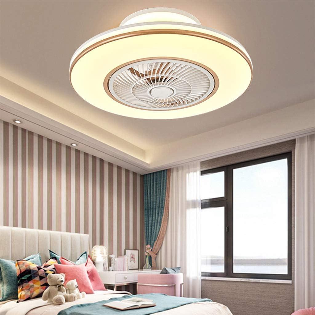 Ventilateur de Plafond avec /Éclairage LED Lumi/ère R/églable Vitesse du Vent Dimmable avec T/él/écommande 80W Plafonnier Moderne pour Chambre Salon Salle /à Manger ,Marron /Ø58cm
