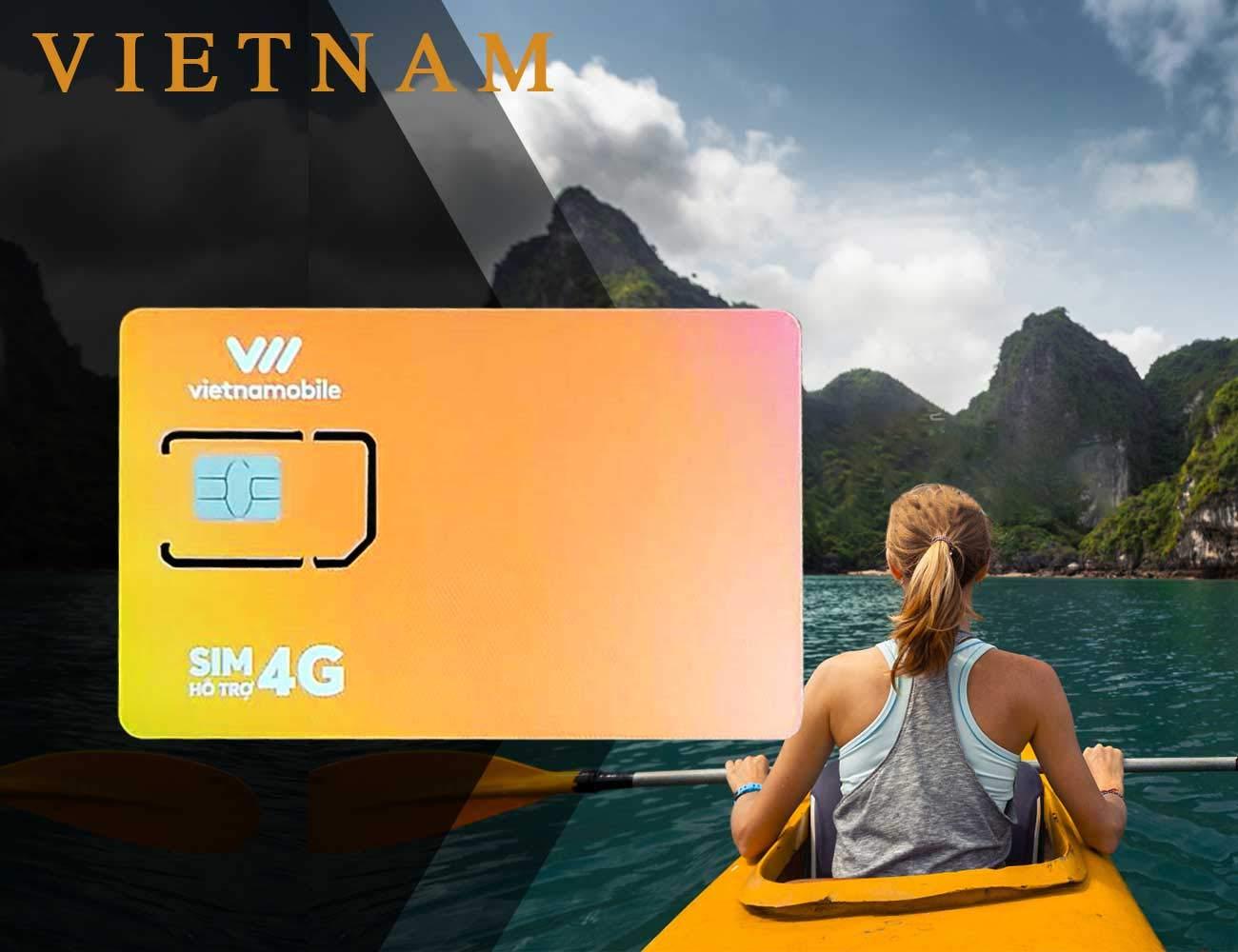 Vietnam Travel Prepaid SIM Card - 60GB 3G Data with Unlimited Intranet Calls - 20 Days