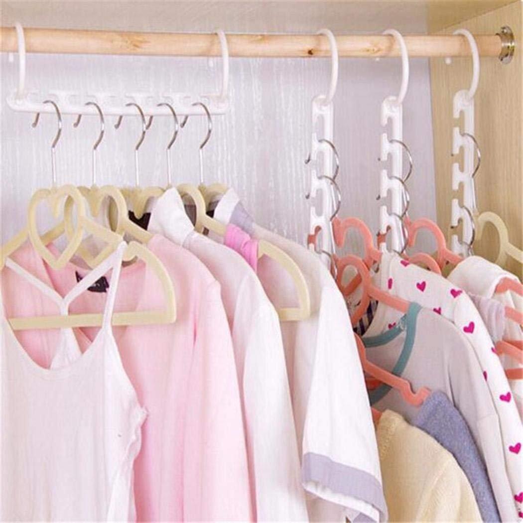 Meflying Magic Hangers Closet Space Saving Wardrobe Clothing Hanger Clothing Hook Organizer