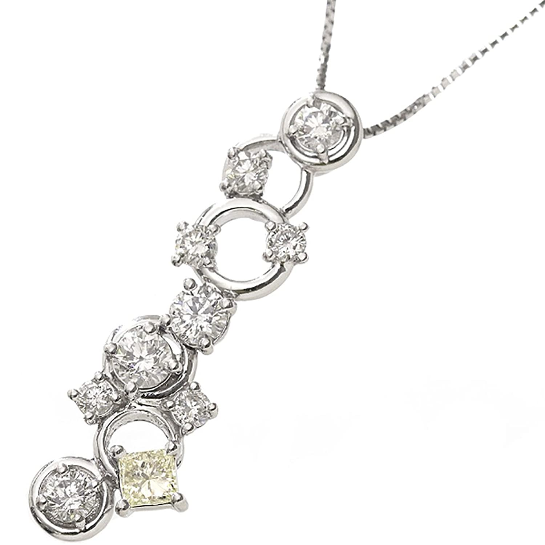 ダイヤ 0.82ct/0.20ct Pt プラチナ ネックレス 44cm ダイア【中古】 90033924 B0797MXHP1