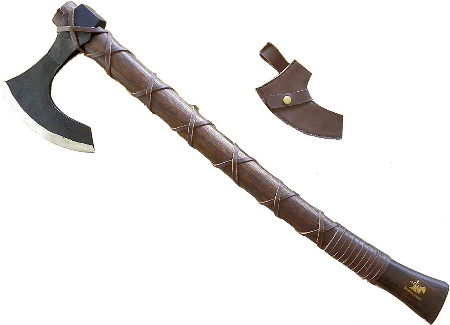 """Stratuscrafts 24"""" inches Viking Battle Axe Outdoor Camping Hatchet 