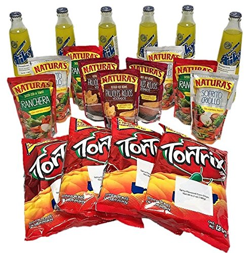 Combito Mi Pulpe Guatemala / Variety Combo Mix Snack (Tiky Soft Drink - Tortrix - Naturas Refried Beans - Naturas Sauces)