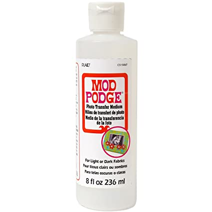 how to remove mod podge from fabric