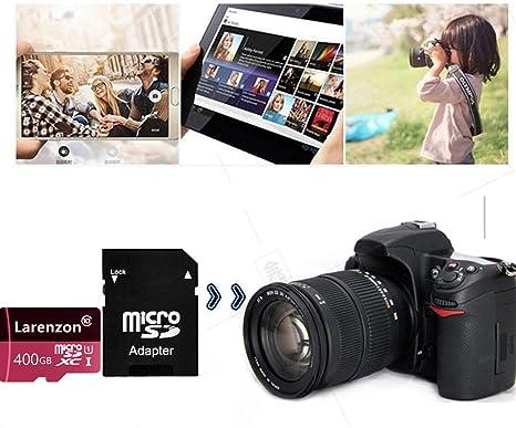 Larenzon Micro SD Tarjeta 400 GB, microSDXC 400 GB Class 10 Tarjeta de Memoria + Adaptador SD (R150-X5) (400GB)