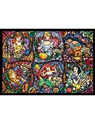 日亚:凑单品:tenyo 教堂玻璃风 迪士尼公主系列拼图 500片 1409日元(约85元)