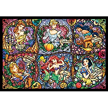 Disney Stained Glass Puzzle.Tenyo Disney Brilliant Princess Stained Glass Gyutto Size Series Jigsaw Puzzle 500 Piece