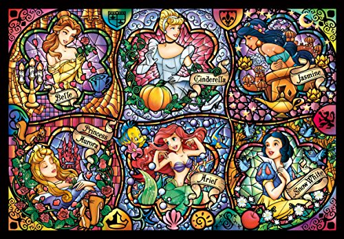 Price comparison product image Tenyo Disney Brilliant Princess Stained Glass Gyutto Size Series Jigsaw Puzzle (500 Piece)