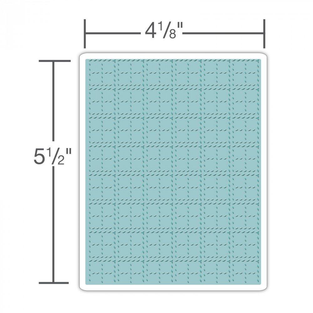 Sizzix TFEF-Stitched Plaid by Tim Holtz Multi-Colour 19.5 x 12.8 x 0.4 cm