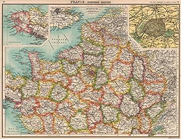 Nordfrankreich Karte.Antiqua Print Gallery Nordfrankreich Departements Paris Zeigen