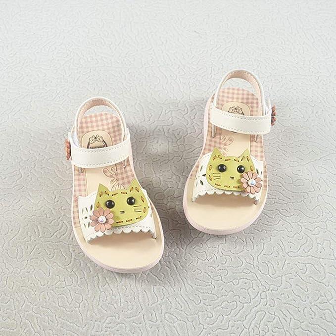 9335e70dda0dcc only storerine♚2019 été bébé Fille Sandales Cartoon Chat Chaussures Enfants  synthétique PU en Cuir Petits Enfants Sandales Princesse Filles Chaussures:  ...