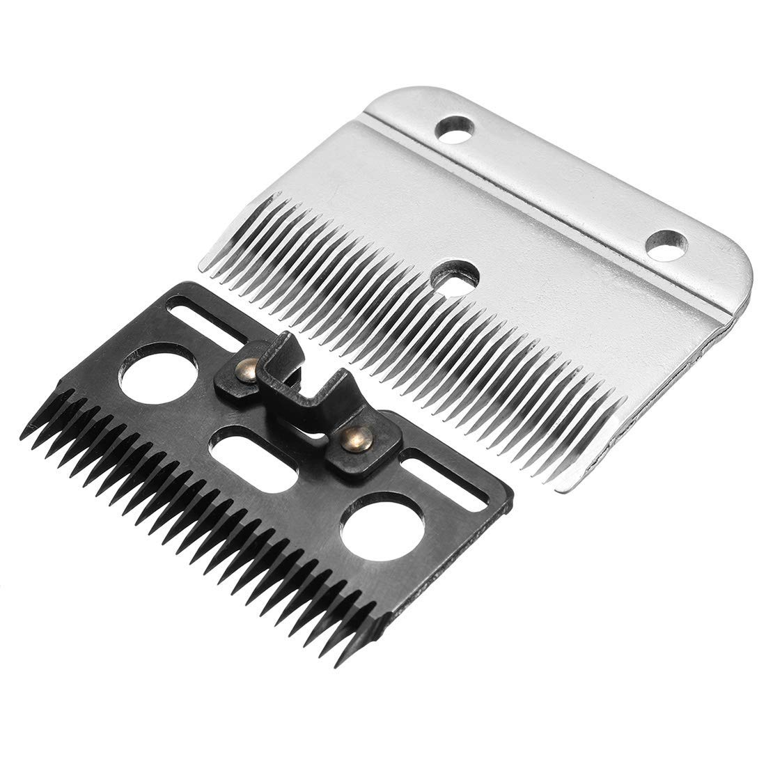 GTTBS-jd Horse Clipper Blades/Electric Horse Hair Clipper Blade Combs Shear Blades Replacement Goat Clipper Blades, Fast Cut Ideal Blades Compatible with Horse Clippers 24 Teeth + 35 Teeth