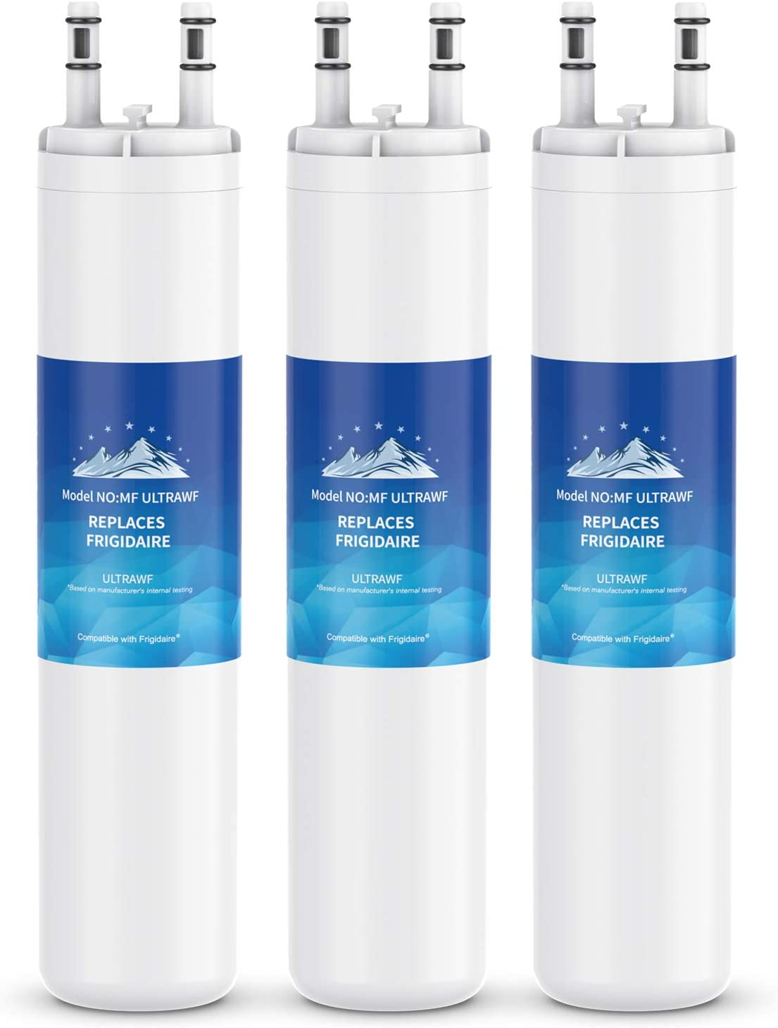 Mountain Flows ULТRAWF Compatible Refrigerator Water Filter Replacement Pure Source Ultra - 3PACK
