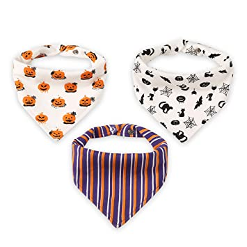 Triangle Bandana Bibs Unisex Baby Absorbent Feeding Banada Bibs with Back Snap Button /& Clips Adorable Burpy Cloths for Infant Drooling Teething