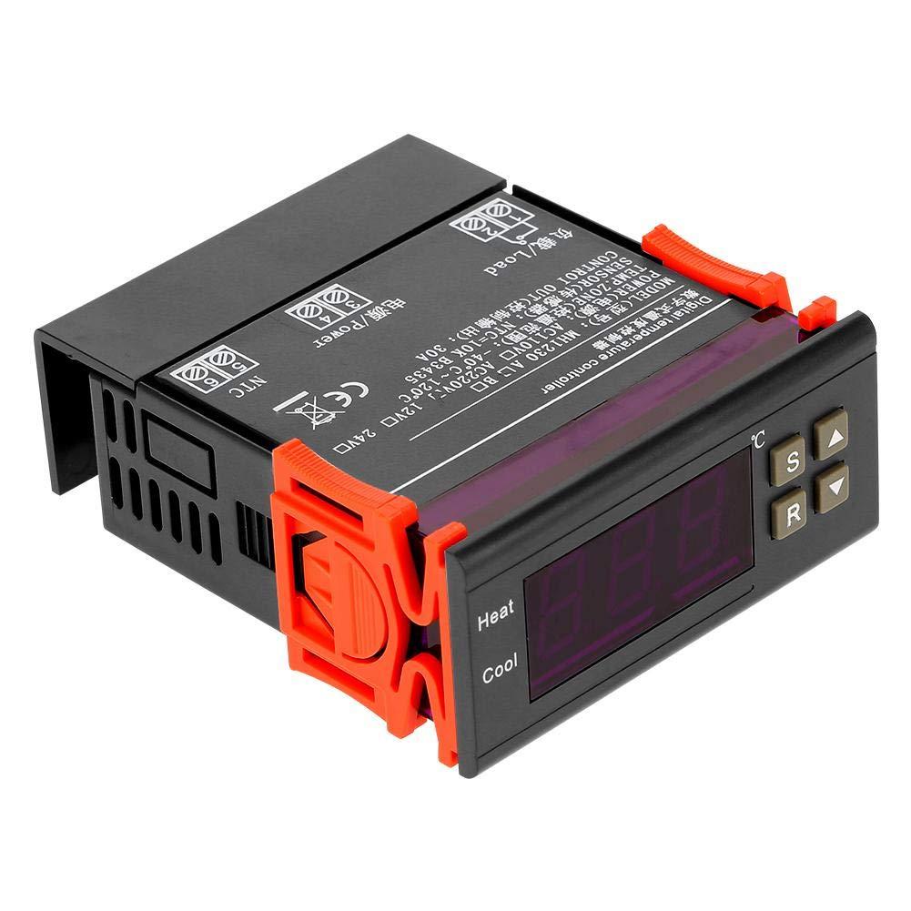 Zouminyy Regulador de temperatura digital del termóstato de la caldera de la calefacción eléctrica del vapor del poder de AC220V 30A MH1230A