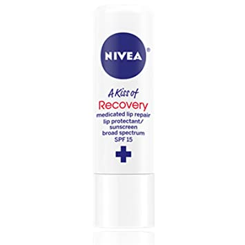 NIVEA A Kiss Of Recovery Medicated Lip Repair SPF 15 0.17 oz (Pack of 2) The Elixir Beauty Nature Premium Essence Facial Mask Pack Sheet 23g, Royal Jelly Mask Sheet Korean Cosmetic (20 Packs)