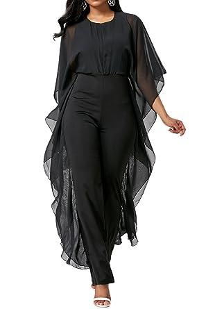 Amazoncom Yinjiong Womens Elegant Chiffon Overlay High Waisted