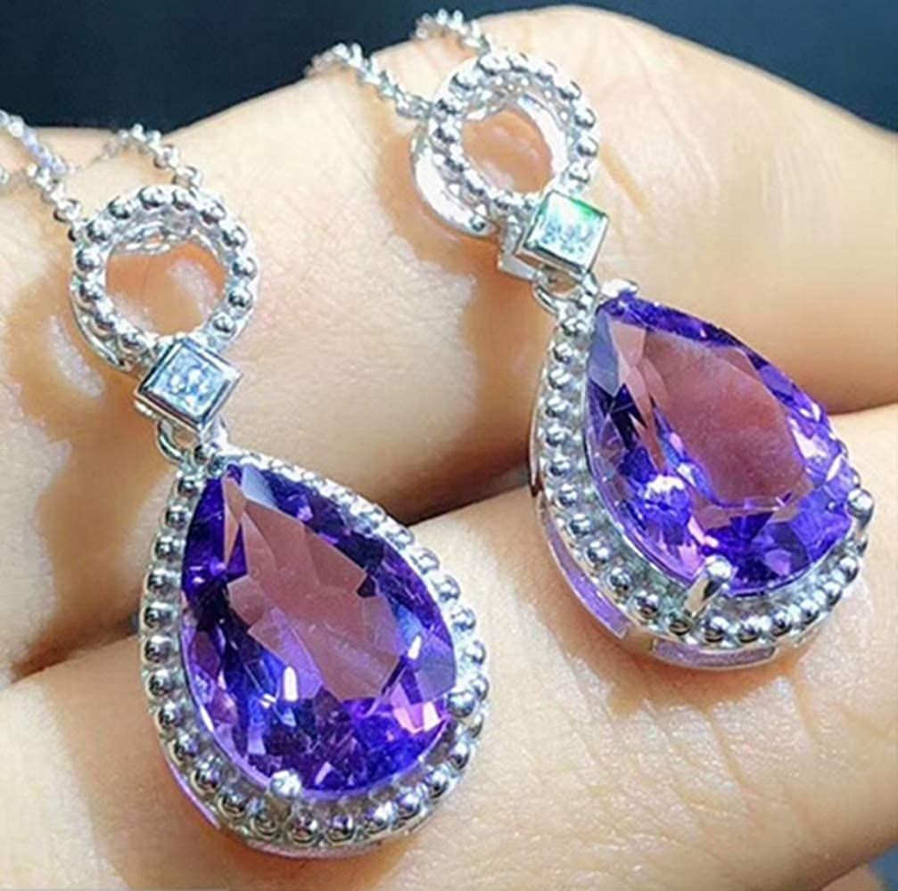 Crystal Pendant Jewelry can be s925 Silver Inlaid Natural Amethyst Pendant Necklace