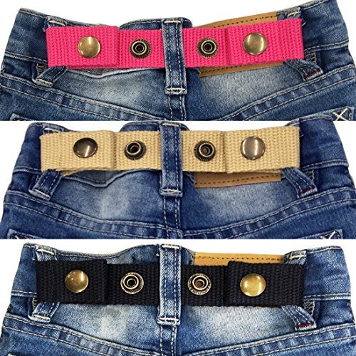 Sister Selected Adjustable Snap Belt for Baby/Toddler Boy & Girl Pant - 3 Pack: (No. 2)