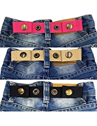 Adjustable Snap Belt for Baby/Toddler Boy & Girl Pant - 3 Pack: