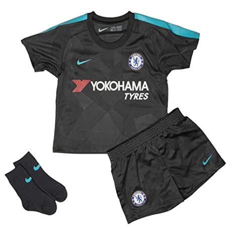 newest collection 68d1f 604e4 Amazon.com : Nike 2017-2018 Chelsea Third Baby Kit : Sports ...