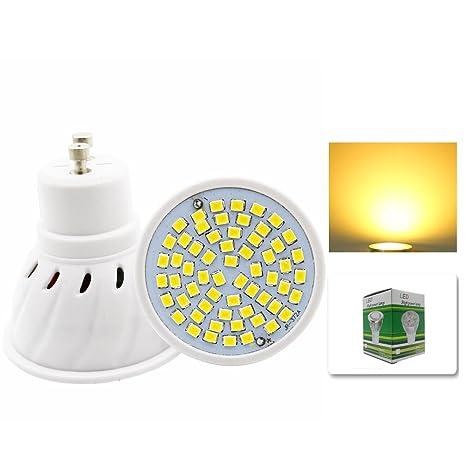 mengjay® 1 x Spotlights Cup GU10 4 W Light Cup 60 SMD 5730 Blanco Cálido