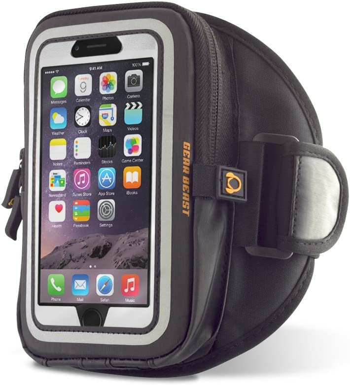 Gear Beast XLG GearWallet Sports Armband Smartphone Case Pouch compatible with Otterbox Cases/for Apple iPhone 7/8 Plus, X, Samsung Galaxy Note
