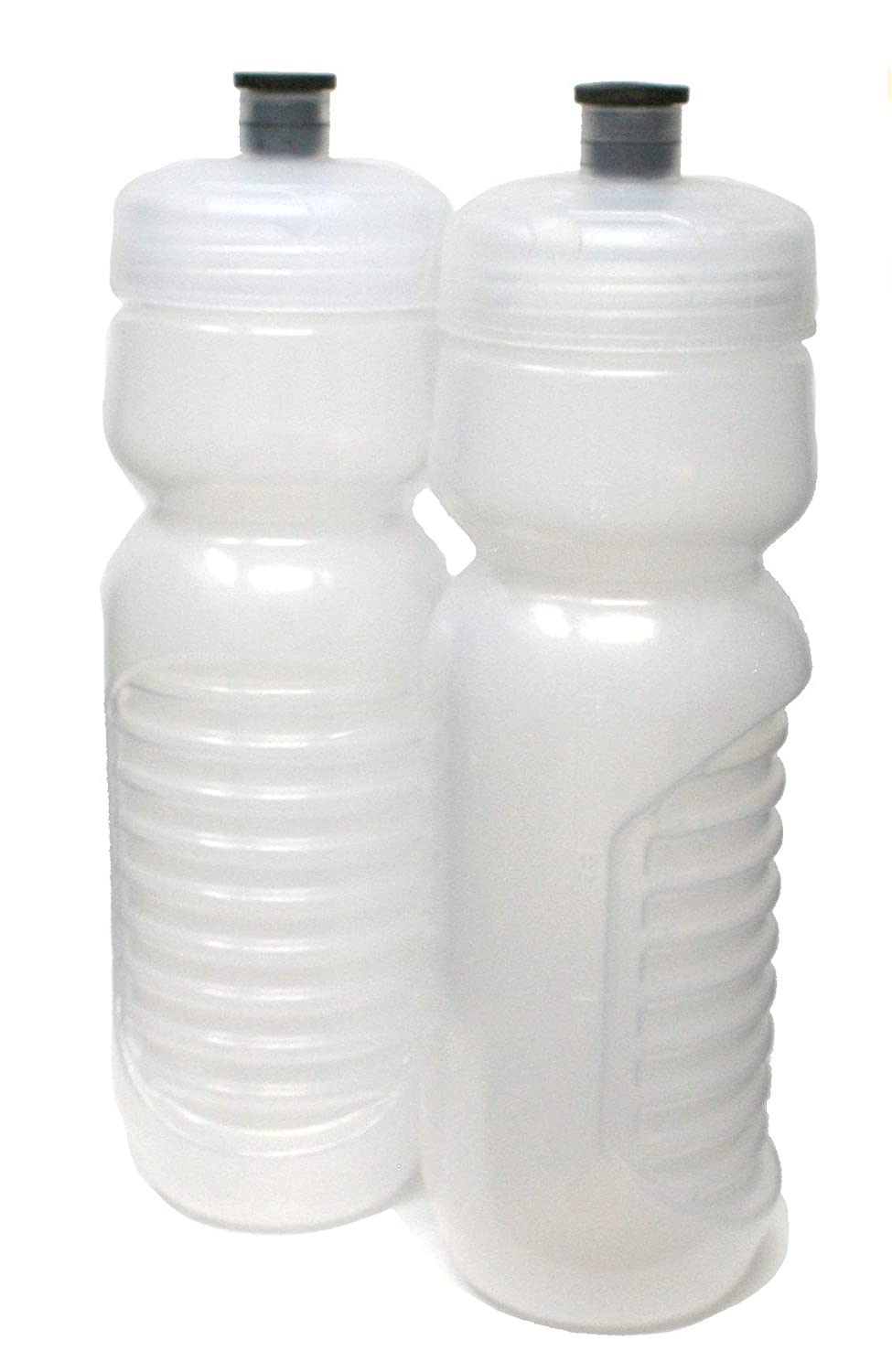 2 Pack, Made in USA Clear Frost PPI Rolling Sands BPA-Free 24oz Squeeze Water Bottle Made in USA