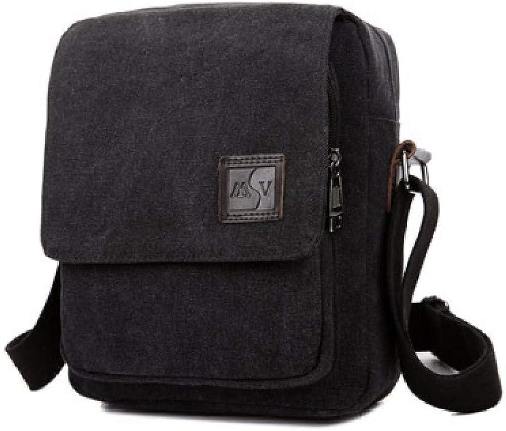 big face cat Vintage canvas bag mens shoulder bag mens casual bag Messenger bag