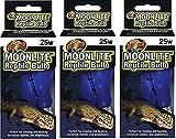 (3 Pack) Zoo Med Moonlite Reptile Bulb - 25 w