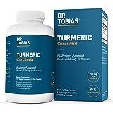 Dr. Tobias Turmeric Curcumin - 15x Strength: 750 mg per Capsule of 95% Curcuminoids Plus Bioperine - 120 Capsules