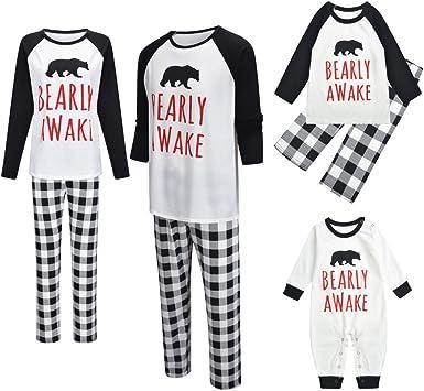 JYKING Pijama de Navidad, juego de pijama de Navidad, juego ...