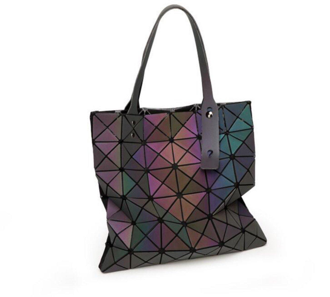 GXYLLDSdjb Luminous Geometric Bag Women s Handbags Shoulder Bags Ladies  Purses Messenge Bags Briefcases Girls Daily Bags 33 33cm de069dccfc6cd