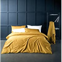 Solid Color Egyptian Cotton Duvet Cover Luxury Bedding Set High Thread Count Long...
