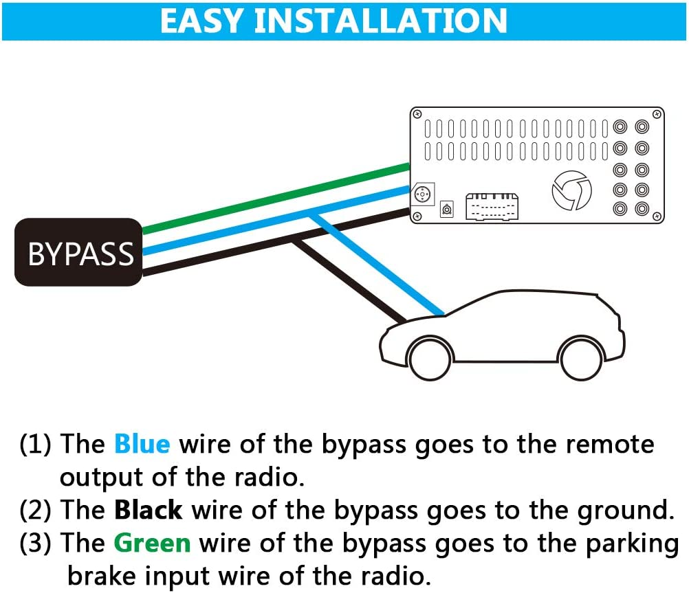 pioneer 6300bt wiring diagram color amazon com parking break bypass module video in motion interface  amazon com parking break bypass module