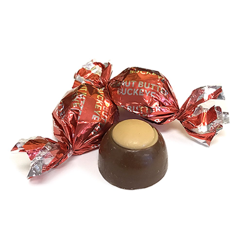 Harry London Buckeyes Milk Chocolate & Peanut Butter Candy Bulk (3 lb.) by All City Candy