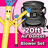 Wholesale Inflatables 20ft Tall Air Dancer Set Inflatable Tube Man Puppet with Blower - Yellow