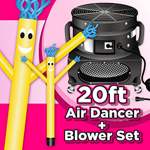 Wholesale Inflatables 20ft Tall Air Dancer Set Inflatable Tube Man Puppet with Blower - Yellow by Wholesale Inflatables