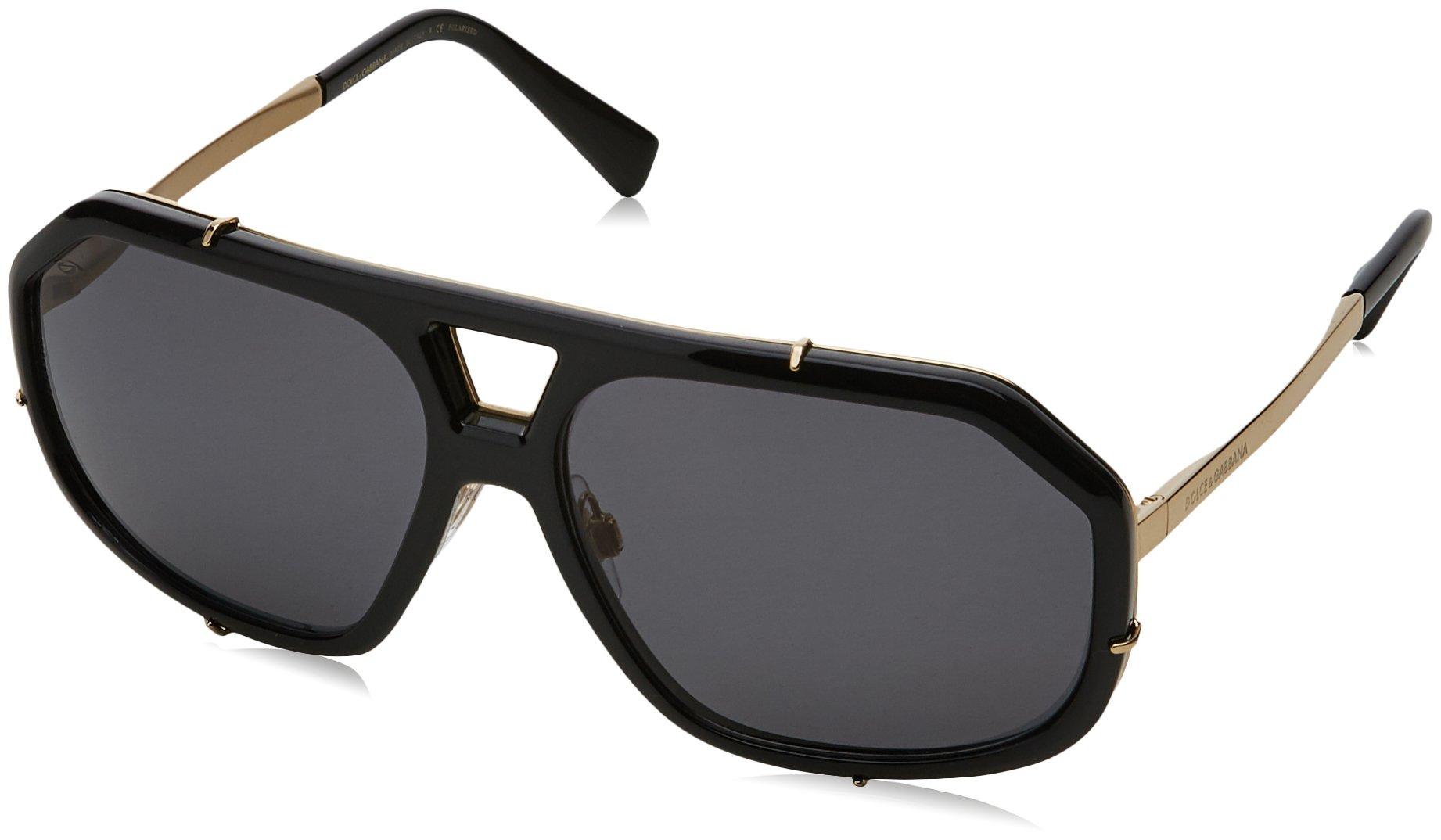Dolce & Gabbana  Men's DG2167 Black/Polar Grey Sunglasses