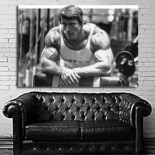 #27 Poster Arnold Schwarzenegger Muscle Fitness Body Builder 40x60 inch (100x150 cm) Adhesive Vinyl