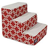 3 Step Portable Pet Stairs By Majestic Pet Products Red Links Steps for Cats and Dogs