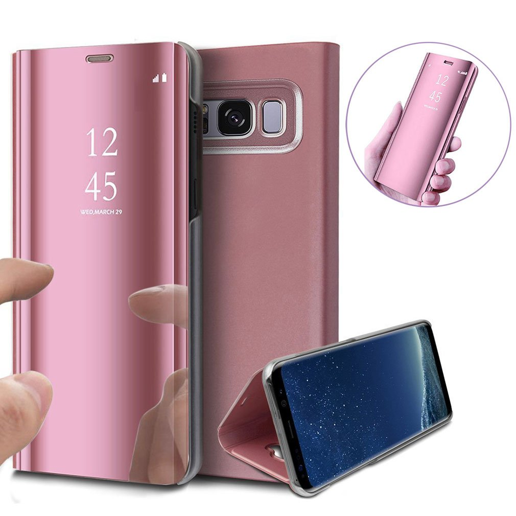 c1b80bd61a70 ... 8 Luxury PU Leather Flip Case Magnetic Protective Cover Ultra Thin Hard  Anti-Scratch Electroplate Frame for Samsung Galaxy Note 8(Rose gold). by  XCYYOO
