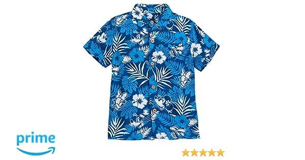 795c07bf Amazon.com: Disney Mickey Mouse and Friends Aloha Shirt for Boys Hawaii  Multi: Clothing