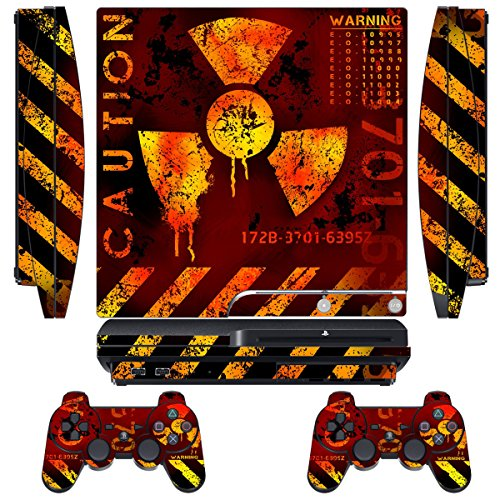 Designer-Skin-for-Sony-PlayStation-PS3-SLIM-System-Remote-Controllers-MeltDown