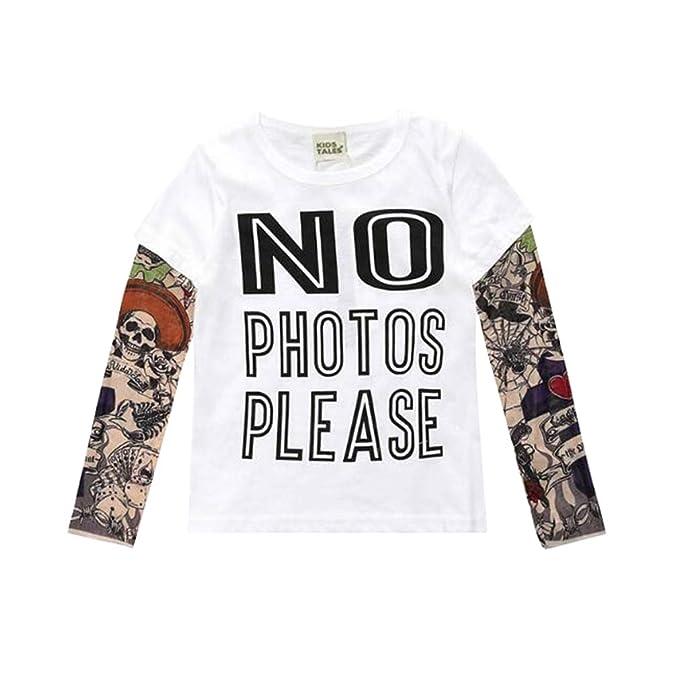631091509 Yying Boy Tattoo Tshirt Camiseta Niños Dibujos Animados Niños Niños Camiseta  Ropa para Niños Ropa para Bebés Camisetas para Niños  Amazon.es  Ropa y ...