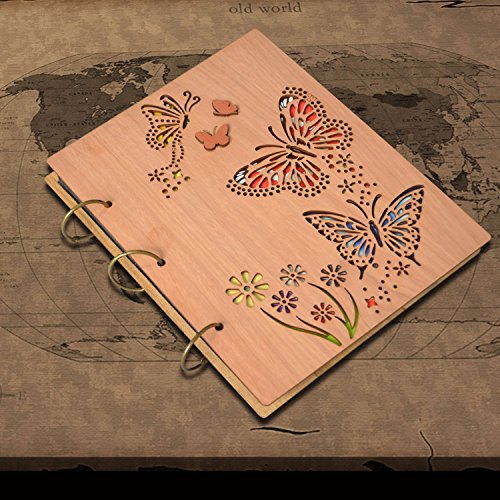 PETAFLOP 5x7 Photo Album Book Butterfly Themed Photo Albums 120 Pockets 3 Ring Binder by PETAFLOP (Image #1)