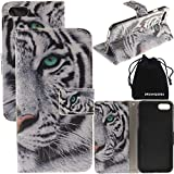 iPhone 8 Plus Case, iPhone 7 Plus Case, 8Plus 7Plus for Men/Women Wallet Purse Type Leather Credit Cards with Cellphone Holder Flip Cover