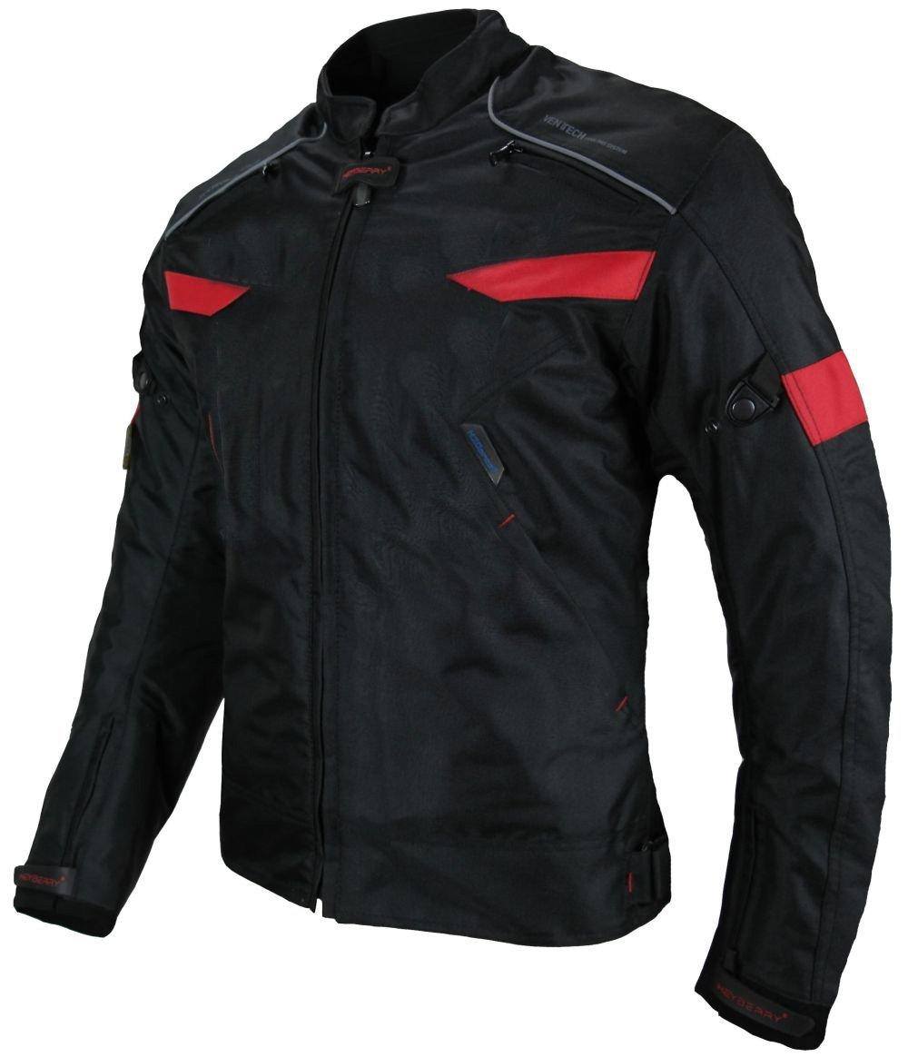 40 L Heyberry Damen Motorradjacke Textil Schwarz Rot Gr