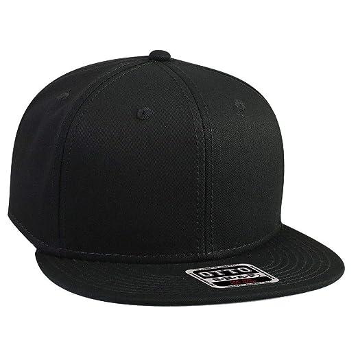 1ea6d4f96 OTTO SNAP Cotton Twill Round Flat Visor 6 Panel Pro Style Snapback Hat