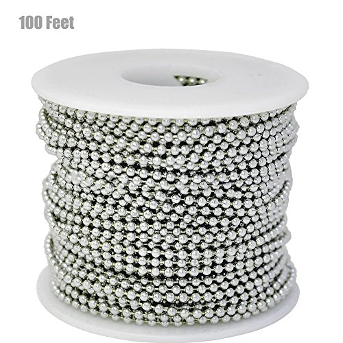 Stainless Bead (Spool Stainless Steel 100 Feet&Stainless steel long bead chain)