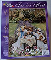 The Art of Sandra Kuck 1000 Piece Puzzle Afternoon Tea by White Mountain Puzzles
